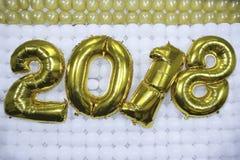 ` S Eve Party Celebrating de nouvelle année la nouvelle année Reveilllon 2018 Photo stock