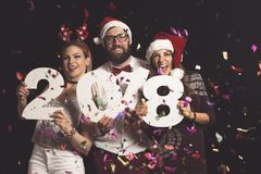 ` S Eve Party de nouvelle année Photos stock