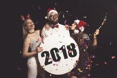 ` S Eve Party de nouvelle année Image stock