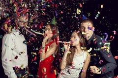` S Eve Party del Año Nuevo fotos de archivo