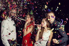 ` S Eve Party del nuovo anno Fotografie Stock
