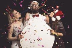 ` S Eve Party do ano novo fotos de stock royalty free
