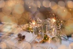` S Eve, regalo del Año Nuevo de la Navidad Imagen de archivo libre de regalías