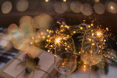 ` S Eve, regalo del Año Nuevo de la Navidad Fotos de archivo libres de regalías