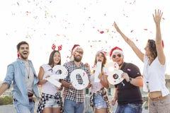 ` S Eve Rooftop Party del Año Nuevo imagen de archivo libre de regalías