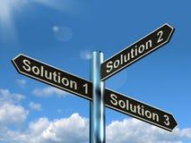 S för lösning 1 2 eller 3 primat beslut för visningstrategialternativ eller stock illustrationer