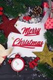 ` S för nytt år eller julvykort Arkivfoton