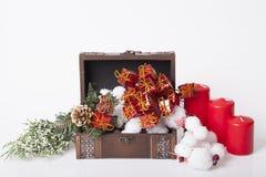 ` S för nytt år och julgarnering Arkivbilder