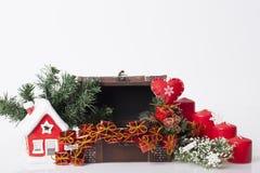 ` S för nytt år och julgarnering Arkivfoton