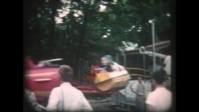 1950s Fairground Plane Ride Goes Around - Vintage 8mm