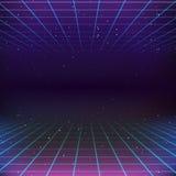80s fantastyka naukowa Retro tło