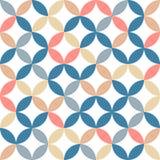 Fashionable vector pattern. 1960s fashion design pattern - seamless texture vector illustration Royalty Free Illustration