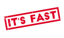 It s Fast rubber stamp Royalty Free Stock Photo