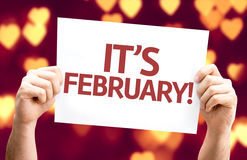 It's February card with heart bokeh background Stock Photo