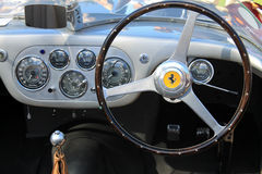 1950s ferrari interior dashboard gauges. 1950s ferrari 133 mm interior gauges and dashboard Stock Images