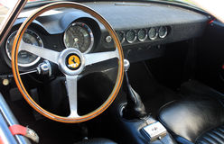 1950s ferrari interior gauges. 1950s ferrari 250 gt interior gauges and dashboard Stock Image
