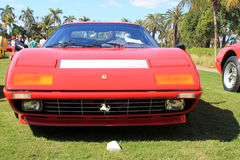 1970s Ferrari supercar frontal view Stock Photos