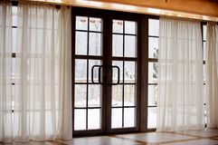 That's the first snow outside the window Royalty Free Stock Photography