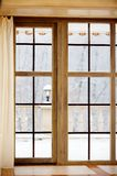 That's the first snow outside the window. The first snow outside the window Royalty Free Stock Photo