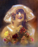 1920s Flapper Girl Portrait Royalty Free Stock Photography