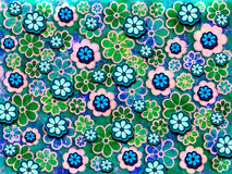 60's Flower Pattern Royalty Free Stock Images