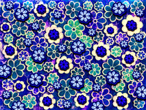 60's Flower Pattern Stock Image