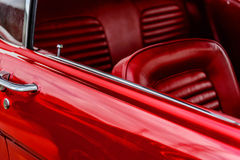 1960's Ford Mustang. Classic 1960's red Ford Mustang royalty free stock image