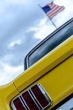 1960's Ford Mustang. Classic 1960's yellow Ford Mustang Royalty Free Stock Photo