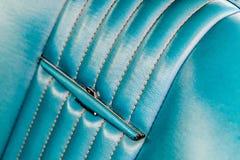 1960's Ford Thunderbird interior. 1960's restored blue Ford Thunderbird Stock Photos