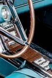 1960's Ford Thunderbird radio. 1960's restored blue Ford Thunderbird Stock Photo