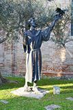 S. Francesco statue and church in Treviso, Italy Stock Photography