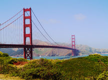 S.Francisco Golden Gate Bridge. A view of the famous 'Golden Gate Bridge' in S. Francisco royalty free stock photo