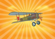 1900s French AirForce Spad XIII Stock Images