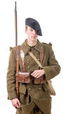 40s french soldier,  front view Royalty Free Stock Photos
