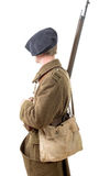40s french soldier, side view Royalty Free Stock Images