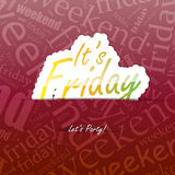 It's Friday Background Royalty Free Stock Images