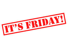 IT`S FRIDAY!. ITS FRIDAY! red Rubber Stamp over a white background Stock Image