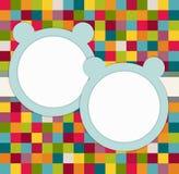 ` S gemella la carta dell'invito della doccia di bambino con gli orsi blu illustrazione di stock
