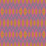 1930s geometric art deco pattern. In bright pink and orange colors, seamless vector background. Texture for print, textile, wallpaper, vintage decor, website Royalty Free Illustration