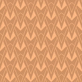 1930s geometric art deco pattern. In warm organic colors, seamless vector background. Texture for print, textile, wallpaper, vintage decor, website background Royalty Free Stock Images