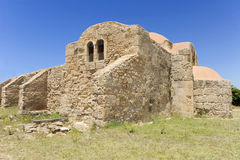 S Giovanni del Sinis church. A fabulous church more than one thousand years royalty free stock image