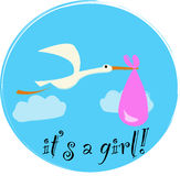 It's a girl! Stock Images