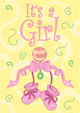 It's a girl. ! design Royalty Free Stock Images