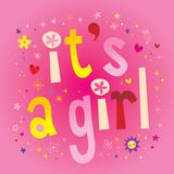 It`s a Girl - annoncement card Royalty Free Stock Image