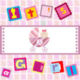 It's a girl announcement Stock Photography