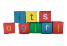 It's a girl announcement Stock Image