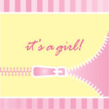 It's a girl baby announcement Royalty Free Stock Images