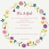 Baby Card - It's A Girl Royalty Free Stock Images