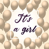 It`s a Girl, Baby Shower Background Stock Photo