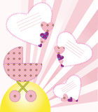 It's a girl. Background a newborn baby. EPS 10 Vectors Stock Photography
